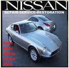 NISSAN DATSUN 240Z,260Z,280ZX,300ZX,350Z 370Z WORKSHOP SERVICE MANUAL BIBLE CD