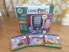 Pink Leap frog Leap Pad 2 System With 3 Disney Princess Games Cartridge Bundle