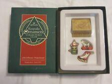 """Vintage Hallmark Ltd Ed """"Christmas Treasures"""" Miniature Ornament Set 1992"""