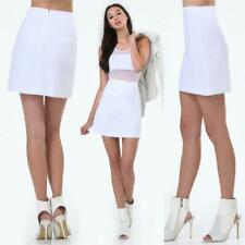 BEBE WHITE MAGGIE TWILL MINI SKIRT NEW NWT $79 MEDIUM M 8