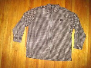 Big & Tall Men's Dickies Black/Red/White Check Long Sleeve Work Shirt  2X New