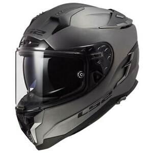 LS2 Challenger FF327 Matt Titanium Motorcycle Motorbike Helmet