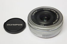 Olympus M.Zuiko Digital 14-42mm EZ ED MSC Pancake-Zoom silber gebraucht
