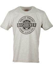 Herren T-Shirt VW Bulli »BUSDRIVER« Grau Schwarz