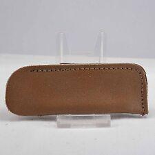 Vintage leather pocket stone holder no stone brown shop sharpening whetstone