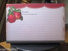 BROWNLOW GIFTS 36 4 x 6 RECIPE CARDS VINTAGE APPLES DESIGNER CARDS