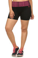 Womens Ladies Stretchy Fit Bike Exercise Workout Yoga Shorts Gym Pants Plus Size
