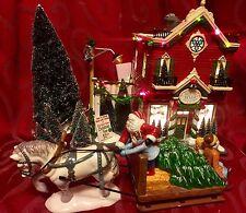 DEPARTMENT DEPT 56 Original Snow Village SILVER BELLS CHRISTMAS SHOP Gift Set