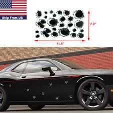 1pc Fire Bullet Hole Sticker Gun Shots Decal Black Sport/Racing Car Body Decor