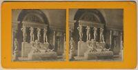 Museo Del Louvre Statue Parigi Francia Foto Stereo P49p2n2 Vintage Analogica
