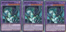 YUGIOH CARD 3 x  AMULET DRAGON  LEDD-ENA35  LEGENDARY DRAGON DECK