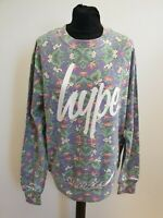 I470 WOMENS HYPE BLUE GREEN RED FLORAL COTTON CREW NECK L/SLEEVE JUMPER UK L