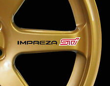 Subaru Impreza WRX STI 8 x logo decal graphics stickers for alloy wheels (90mm)