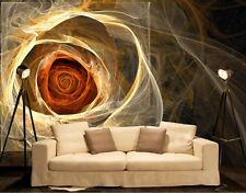 Fractal Rose-Wall Mural-12'wide by 8'high