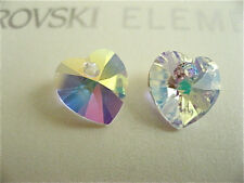 6 Crystal AB Swarovski Crystals Hearts 6228 10mm