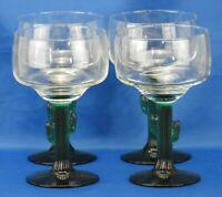 Libbey - Cactus Stemmed Margarita Glasses 12oz 100% BPA-free Lead-free Set of 4