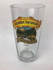 Sierra Nevada Summerfest Crisp Summer Lager 16 OZ Beer Bar Glass Pint FSTSHP