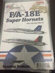 SUPER SCALE DECAL  #481226  1/48th  SCALE  F/A-18E SUPER HORNETS  (GPM)