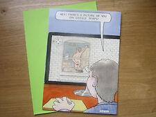 Google Maps Picture Joke Humerous Happy Birthday Blank Greeting Card (214)