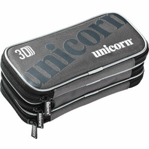 Unicorn 3D Darts Case 3 extra large zipped compartments