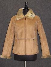 L.E.I Beige Suede Zip Up Women's Jacket Coat SZ L