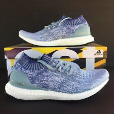 Adidas Ultra Boost Uncaged Mens Size 9 Running Shoes Ash Grey Blue Red B37693