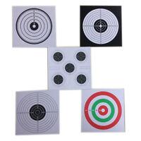 100 pcs Paper Shooting Targets 14cm Gun/Pistol Target Cards Archery Accessory