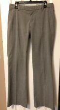 GAP Women's Hip Slung Fit Pants, Flat Front, Charcoal, Size 8 Long
