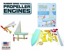 Rubber Band Powered Propeller Engines Kit Science DIY Puzzle Assembly
