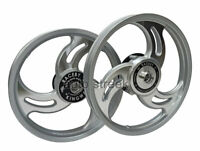 Royal Enfield Classic 500cc Front and  Rear 3 Spoke Silver Alloy Wheel Rims