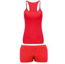 Pantaloncini rossi per bambine dai 2 ai 16 anni