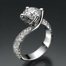 2.75 DIAMOND ENGAGEMENT RING ROUND CUT  18K GOLD