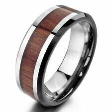 Wooden Stainless Steel Fashion Rings