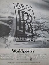 6/1975 PUB ROLLS ROYCE ENGINE 219 AIRLINES LONDON HEATHROW AIRPORT ORIGINAL AD