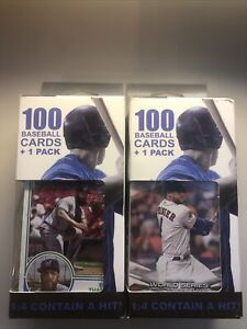 Fairfield Company 100 Unopened Baseball Cards 1  Sealed  Pack Per Box (2 Boxes)
