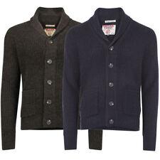 Men's Medium Knit Wool Blend Button-Front Jumpers & Cardigans