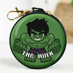 Cute Hulk Coin Purse Zipper Marvel Heroes Wallet Headset Children Money Kids UK