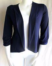 Dressbarn Roz & Ali Navy Blue Open Style Career Soft Stretch Jacket XL ~ NWT