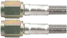 """AllStar braided Stainless Steel Brake Line 3 An 3An Staight End 18""""  ALL46300-18"""