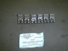 1955,56,57 Chevrolet 150,210, & Belair Fuel & Brake Line Clip Set 6 Pieces