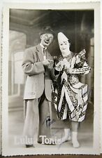 Archives Clown Hopp Circus Medrano Photo Signed Clowns Lulu & Tonic