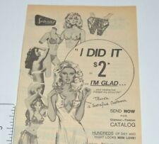 Frederick's Of Hollywood Vintage Print Ad 1976 Lingerie Sex Appeal Bra Panties
