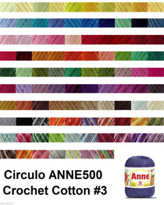 Circulo ANNE500 Crochet Cotton Knitting Yarn Solid & Variegated #3 500m150g