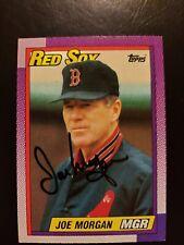 1990 Topps Joe Morgan Autograph Red Sox Card Signed, Auto #321
