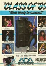 1990 ADA Amplification systems, Class of '89 Guitar Amps - Vintage Ad