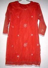EMBROIDERY Boho Bollywood Lined Salwar Kameez Kurti Tunic Top Shirt Dress M/L 42