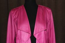 TANJAY BRAND~ PINK~ FAUX LEATHER JACKET~ SIZE 8P~ CLASSY