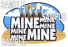 Disney World Epcot The Seas Seagulls Mine Mine Scrapbook Paper Die Cut Piece