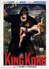 King Kong Movie Poster 1933 Película De Lona Pared Arte Grabado gigante gorila mono 30s