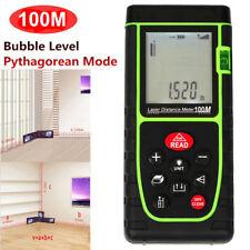 Handheld 100M / 328ft Digital LCD Laser Distance Meter Range Finder Measure Tool
